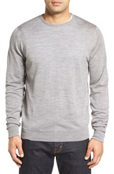 John Smedley Men's 'Marcus' Easy Fit Crewneck Wool Sweater Silver