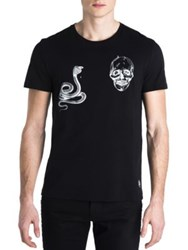 Alexander Mcqueen Snake And Skull Graphic T Shirt Cipria