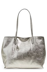 Etienne Aigner 'Penn' Leather Tote Pewter Pebble