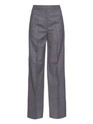 Acne Studios Micro Hound's Tooth Wide Leg Trousers