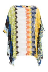 Missoni Mare Fringed Knit Tunic With Cutout Striping Multicolor