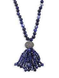 Nest Long Sodalite Tassel Necklace