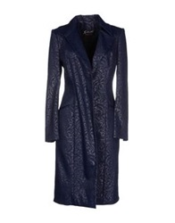 Gattinoni Full Length Jackets Dark Blue