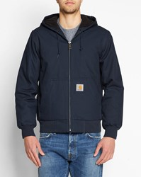Carhartt Navy Active Dearborn Lined Hooded Waterproof Jacket Blue