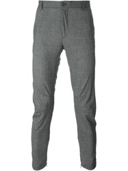 Lanvin Slim Fit Houndstooth Trousers Grey