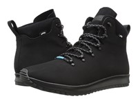 Native Apollo Apex Jiffy Black Shell White Jiffy Black Rubber Lace Up Boots
