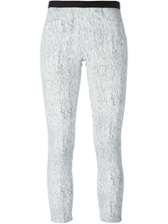 Helmut Lang Printed Cropped Slim Fit Trousers