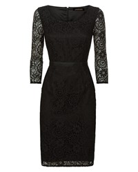 Jaeger All Over Lace Dress Black