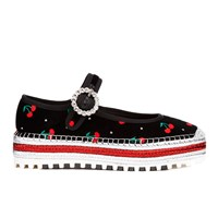 Marc By Marc Jacobs Women's Suzi Mary Jane Cherry Espadrille Black
