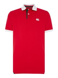 Canterbury Of New Zealand Country Pique Polo Red