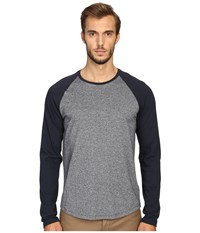 Vince Rustic Mouline Long Sleeve Baseball Tee Coastal Blue Men's T Shirt