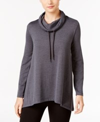Styleandco. Style Co. Melange Cowl Neck Sweatshirt Only At Macy's Grey
