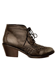 Pixie Market Jeffrey Campbell Woven Lace Up Boots