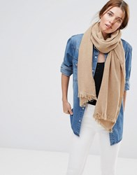 Lavand Knitted Scarf Brown