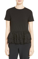 Kate Spade Women's New York Tiered Lace Flounce Tee