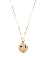 Alison Lou Enamel And Yellow Gold Crazy Face Necklace
