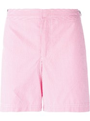Orlebar Brown Striped Swim Shorts Pink And Purple