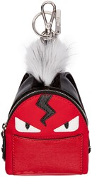 Fendi Red Mini Backpack Keychain