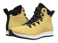 Native Apollo Apex Tomb Brown Shell White Jiffy Rubber Lace Up Boots Yellow