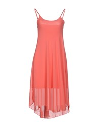 Fracomina Dresses Knee Length Dresses Women Coral