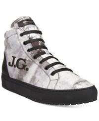 John Galliano Men's Gig B Printed High Tops Men's Shoes Calfwtbk
