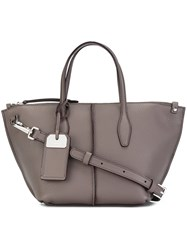 Tod's Removable Strap Medium Tote Grey