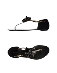 Diego Dolcini Thong Sandals Black