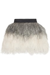 Just Cavalli Ombre Feather Mini Skirt Gray