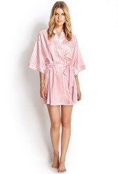 Forever 21 Candy Striped Robe