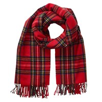 Phase Eight Emma Check Scarf Crimson