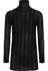 Gucci Pointelle Knit Cashmere And Silk Blend Sweater