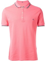 Fay Logo Polo Shirt Pink And Purple