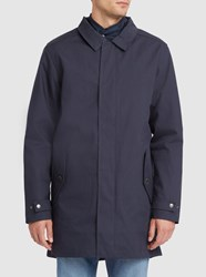 Knowledge Cotton Apparel Navy 3 In 1 Quilted Lining Technical Parka Blue