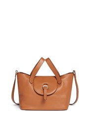 Meli Melo 'Thela' Medium Pebbled Leather Trapeze Tote Brown