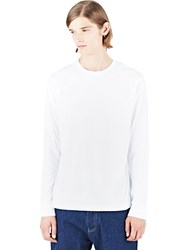 Sunspel Classic Long Sleeved Top White