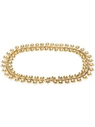 Chanel Vintage Baroque Pearl Belt Metallic