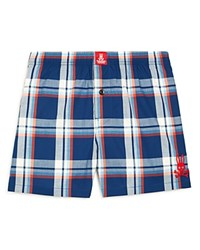 Psycho Bunny Woven Boxers Navy Plaid