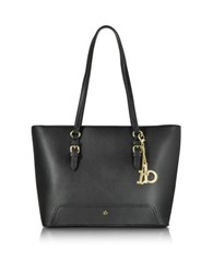 Roccobarocco Rb Large Saffiano Eco Leather Top Zip Tote Black
