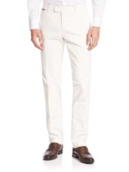Eleventy Solid Trousers With Rear Pockets Ivory