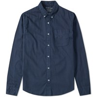 Save Khaki Button Down Yarn Dyed Oxford Shirt Blue