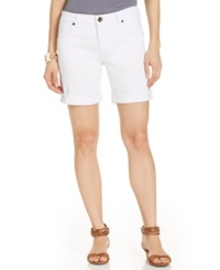 Kut From The Kloth Catherine Boyfriend Denim Shorts White Wash