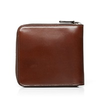 Il Bussetto Bi Fold Zip Wallet Brown