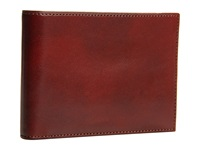 Bosca Old Leather Collection Credit Wallet W Id Passcase Cognac Leather Bi Fold Wallet Brown
