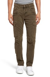 Hudson Jeans Men's Greyson Slim Fit Cargo Biker Pants Trooper Green