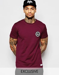 Hype T Shirt With Crest Logo Red