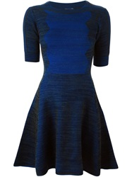 Kenzo Zig Zag Knit Dress Blue