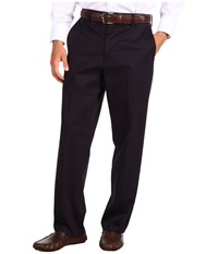 Dockers Signature Khaki D4 Relaxed Fit Flat Front Navy Men's Dress Pants