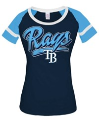 5Th And Ocean Women's Tampa Bay Rays Homerun T Shirt Navy