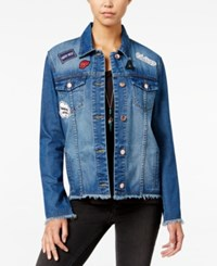 One Hart Juniors' Patch Denim Jacket Only At Macy's Cool Night