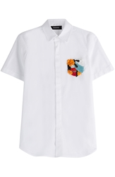 Dsquared Cotton Shirt With Embellished Pocket
